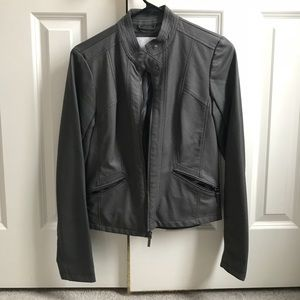 Faux Leather Target Jacket